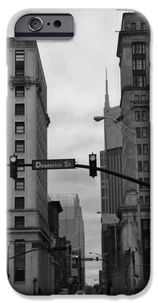 Buildings In Nashville iPhone Cases - Downtown Nashville In Black And White iPhone Case by Dan Sproul