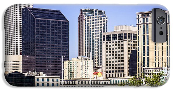 Business iPhone Cases - Downtown New Orleans Buildings iPhone Case by Paul Velgos