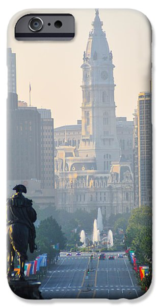 Downtown Philadelphia - Benjamin Franklin Parkway iPhone Case by Bill Cannon