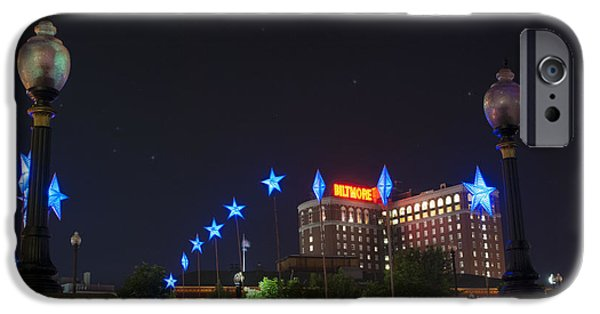 Installation Art Photographs iPhone Cases - Downtown Providence at Night iPhone Case by Juli Scalzi