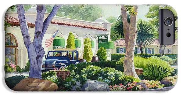 Jeep iPhone Cases - Downtown Rancho Santa Fe iPhone Case by Mary Helmreich