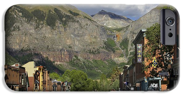 Rocky iPhone Cases - Downtown Telluride Colorado iPhone Case by Mike McGlothlen