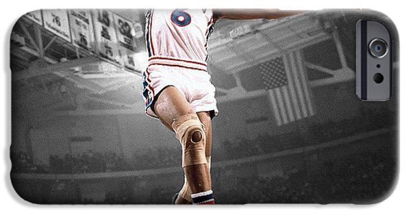 Dr. J iPhone Cases - Dr J iPhone Case by Brian Reaves