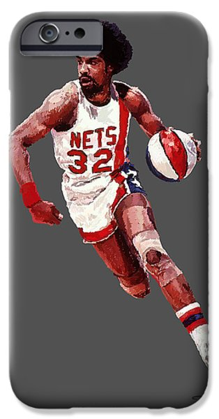 Dr. J iPhone Cases - Dr. J iPhone Case by Charley Pallos