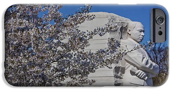 D.c. iPhone Cases - Dr Martin Luther King Jr Memorial iPhone Case by Susan Candelario