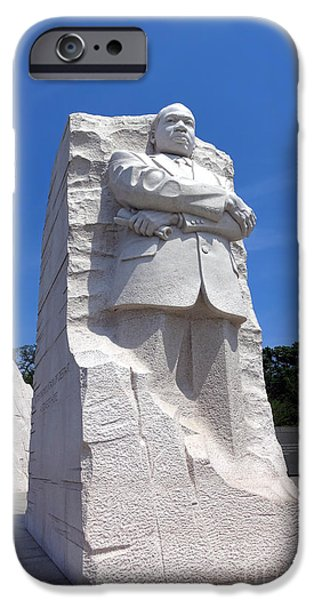 D.c. iPhone Cases - Dr Martin Luther King Memorial iPhone Case by Olivier Le Queinec