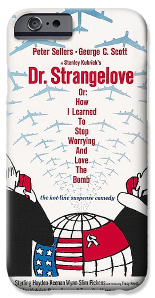 Sterling Hayden iPhone Cases - Dr Strangelove iPhone Case by Nomad Art And  Design