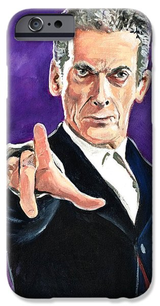 Dr Who iPhone Cases - Dr Who #12 - Peter Capaldi iPhone Case by Tom Carlton