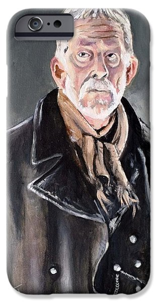 Dr Who iPhone Cases - Dr Who - War Doctor - John Hurt iPhone Case by Tom Carlton