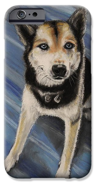 Huskies Pastels iPhone Cases - Draco iPhone Case by Jeanne Fischer