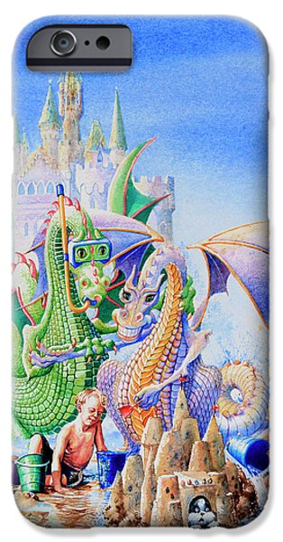 Dragon Castle iPhone Case by Hanne Lore Koehler