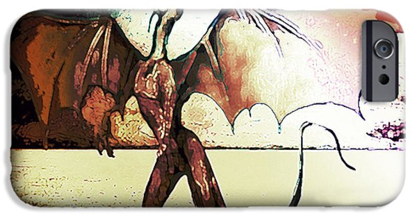 Nature Study Paintings iPhone Cases - Dragon Cry iPhone Case by Michelle Rene Goodhew