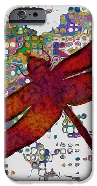 Different Worlds iPhone Cases - Dragonfly iPhone Case by Jack Zulli