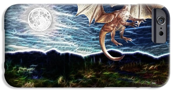 Dragon Night iPhone Case by Methune Hively