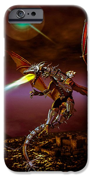 Collect Digital Art iPhone Cases - Dragon Rider iPhone Case by Bob Orsillo