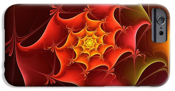 Fractal iPhone Cases - Dragon Scale iPhone Case by Anastasiya Malakhova