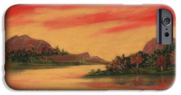Autumn Pastels iPhone Cases - Dragon Sunset iPhone Case by Anastasiya Malakhova