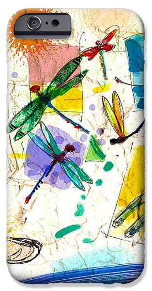 Dragonflies and dog iPhone Case by Nato  Gomes