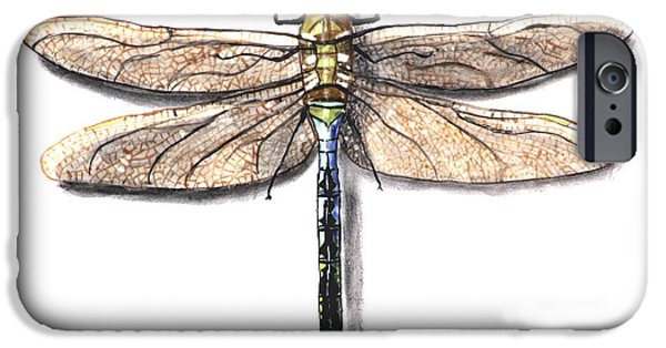 Insects Ceramics iPhone Cases - Dragonfly iPhone Case by Nathan Ryan