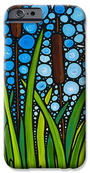 Dragonfly iPhone Cases - Dragonfly Pond by Sharon Cummings iPhone Case by Sharon Cummings
