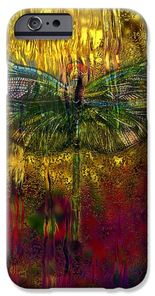 Crops iPhone Cases - Dragonfly - Rainy Day  iPhone Case by Jack Zulli