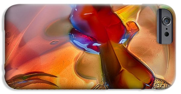 Nature Abstracts Glass iPhone Cases - DragonFlying iPhone Case by Omaste Witkowski