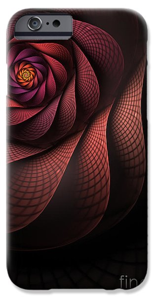 Abstract Digital Digital Art iPhone Cases - Dragonheart iPhone Case by John Edwards