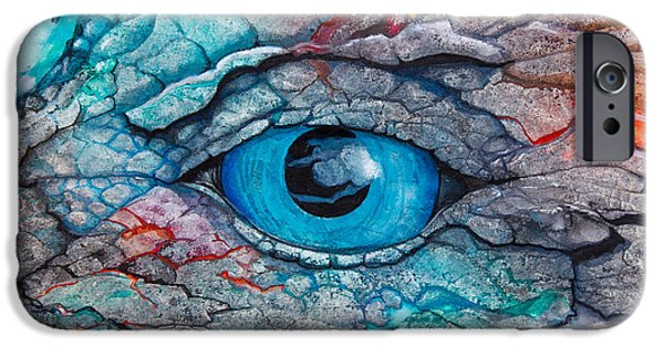 Close Up Mixed Media iPhone Cases - Dragons Eye iPhone Case by Patricia Allingham Carlson
