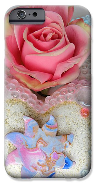 Rose Reliefs iPhone Cases - Dragonsun Detail iPhone Case by Heidi Sieber