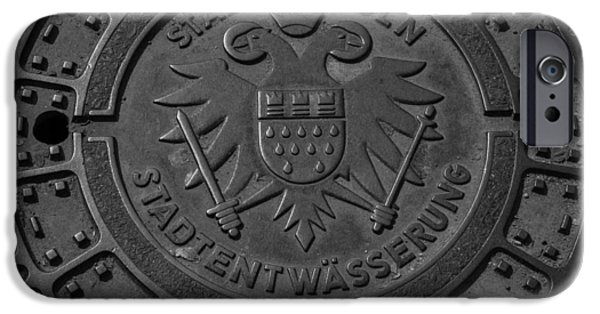 Dining Hall iPhone Cases - Drain Cover Cologne Germany iPhone Case by Teresa Mucha