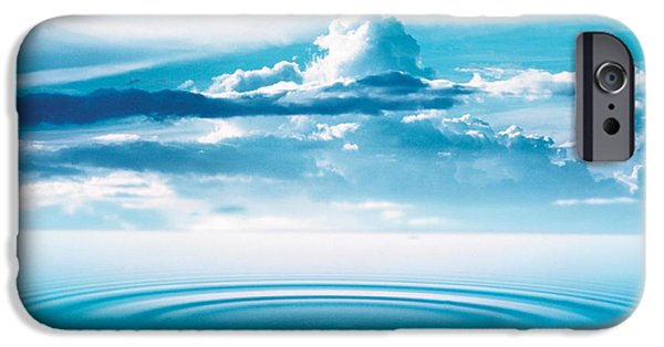 Deep Blue iPhone Cases - Dramatic Cloud Formations Above Rings iPhone Case by Panoramic Images