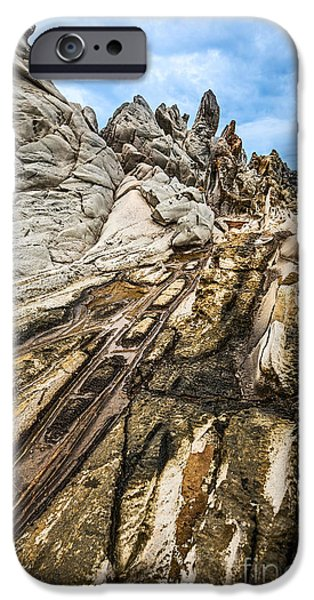 Ledge iPhone Cases - Dramatic lava rock formation called the Dragons Teeth in Maui. iPhone Case by Jamie Pham