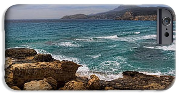 White House iPhone Cases - Dramatic Ocean Panorama on Milos Island Greece iPhone Case by David Smith
