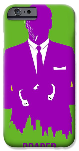 Mad iPhone Cases - Draper Poster 1 iPhone Case by Naxart Studio