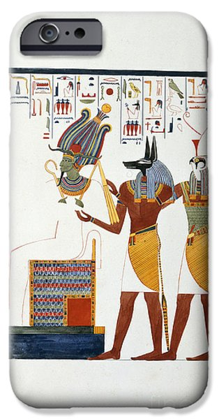 Thebes iPhone Cases - Drawing From An Egyptian Tomb iPhone Case by British Library
