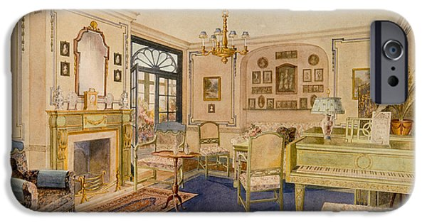 Piano Drawings iPhone Cases - Drawing Room Adam Revival Style iPhone Case by Richard Goulburn Lovell