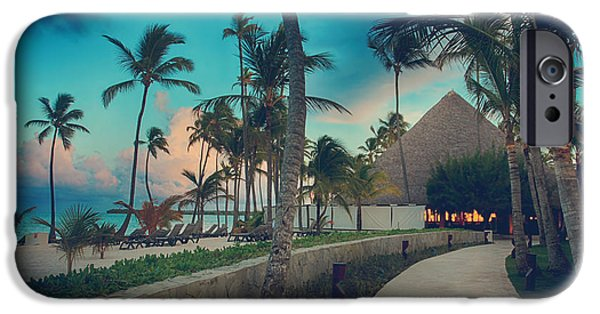 Caribbean Architecture iPhone Cases - Drawn In iPhone Case by Laurie Search