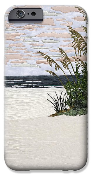 Plant Tapestries - Textiles iPhone Cases - Drawn to the Sea II iPhone Case by Anita Jacques