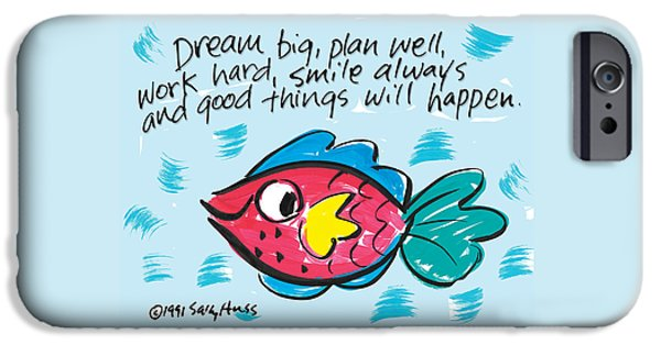 Sally Huss iPhone Cases - Dream Big iPhone Case by Sally Huss