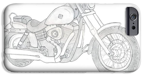 Etc. Drawings iPhone Cases - Dream Bike iPhone Case by Mahalakshmi P