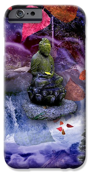 Buddhism iPhone Cases - Dream Buddha iPhone Case by Alixandra Mullins