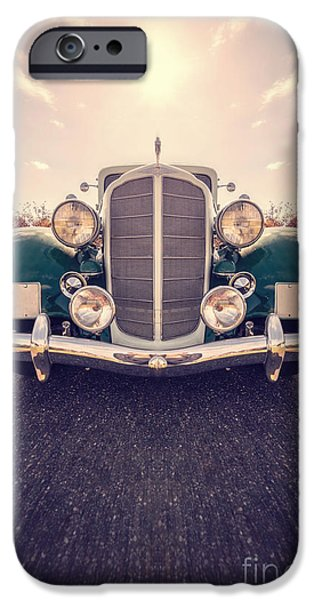Vintage Cars iPhone Cases - Dream Car iPhone Case by Edward Fielding