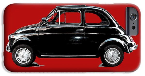 Little iPhone Cases - Dream Car Red iPhone Case by Steffi Louis