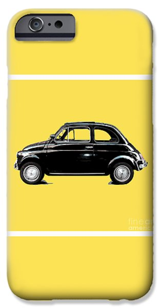 Little iPhone Cases - Dream Car Yellow iPhone Case by Steffi Louis