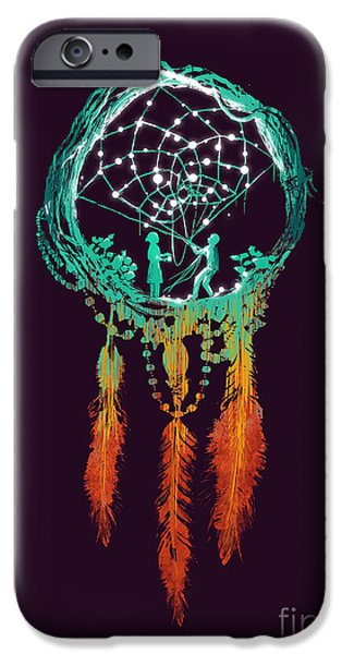 Collect Digital Art iPhone Cases - Dream Catcher iPhone Case by Budi Kwan