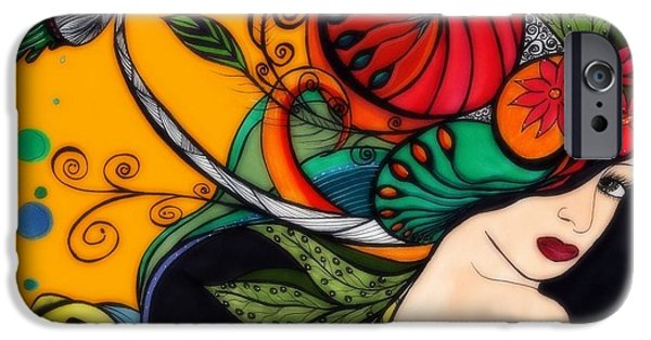 Butterfly Koi iPhone Cases - Dream in Color iPhone Case by Anja Partin