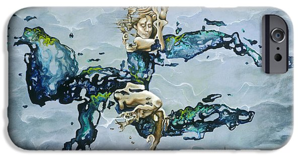 Drips Paintings iPhone Cases - Dream iPhone Case by Karina Llergo Salto