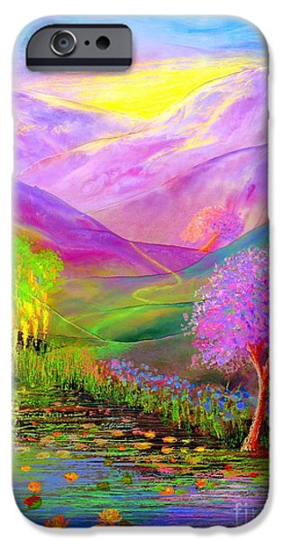 Lavender iPhone Cases - Dream Lake iPhone Case by Jane Small