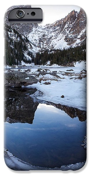 Dream Lake Reflection Square Format iPhone Case by Aaron Spong