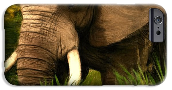 Elephants iPhone Cases - Dream Of Me iPhone Case by Lourry Legarde